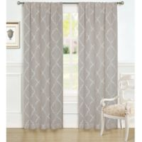 Laura Ashley® 84-Inch Windsor Window Curtain Panel Pair in Taupe