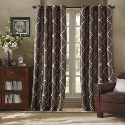 Buy 108 Chocolate Curtain Panel from Bed Bath & Beyond