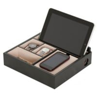 Mele & Co. Rory Wooden Charging Valet in Java Finish