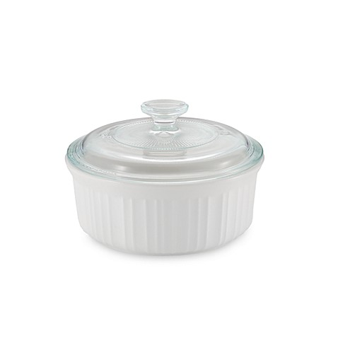French White® 1-1/2-Quart Covered Round Dish