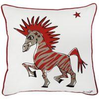 Rachel Kate Punk Rock Animal Boys Zebra 18-Inch Square Throw Pillow