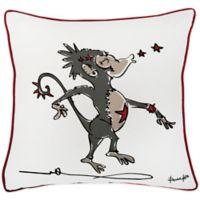 Rachel Kate Punk Rock Animal Boys Monkey 18-Inch Square Throw Pillow