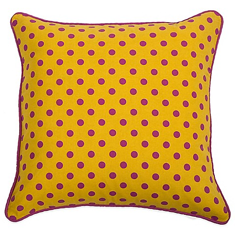 Yellow Throw Pillows For Bed : Rachel Kate Jealla Girl 18-Inch Square Throw Pillow in Yellow - Bed Bath & Beyond