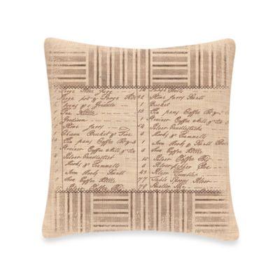 Downton Abbey Kitchen Inventory Square Throw Pillow