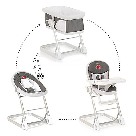 Elegant Iu0027coo 1 2 3 Grow With Me High Chair Set In Grey