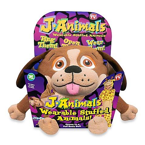 JAnimals Wearable Stuffed Animal  Dog  Medium  Soft