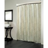 Forest 70-Inch x 96-Inch Fabric Metallic Print Shower Curtain