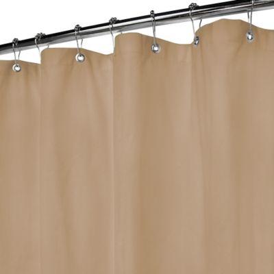 Jardin Stripe 72 Inch X Fabric Shower Curtain In Taupe - Window ...