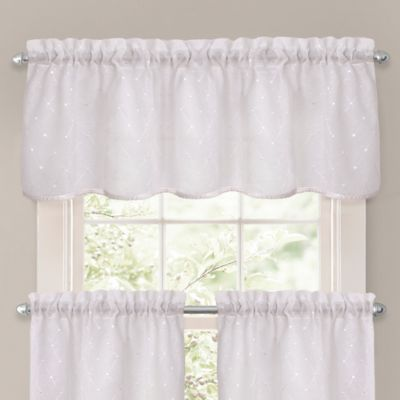 Crystal Brook Window Valance In White