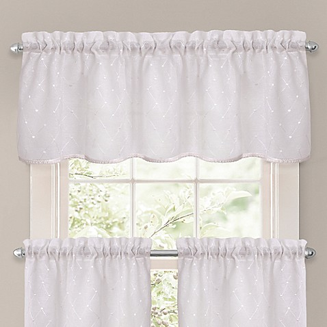 Crystal Brook Window Curtain Tier Pair And Valance In
