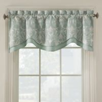 Salisbury Embroidered Valance in Blue