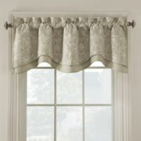 Salisbury Embroidered Valance in Flax