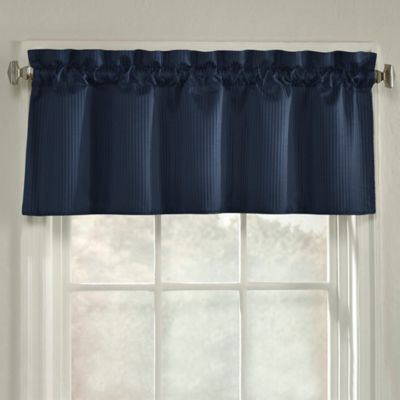 Navy Blue Curtains With Valance Curtain Menzilperde Net