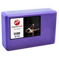 Dragonfly™ Yoga 4-Inch Foam Block in Purple