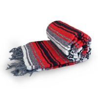 Dragonfly™ Yoga Studio Mexican Blanket in Red