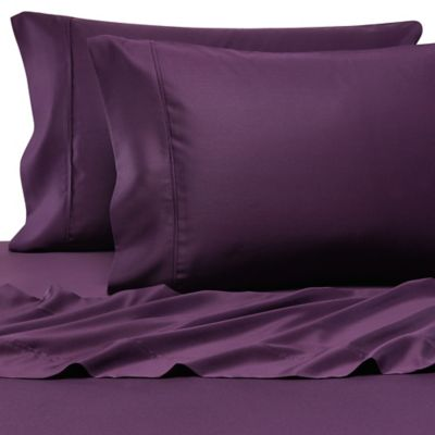 pure beech 100 modal sateen california king sheet set in plum - Cal King Sheets