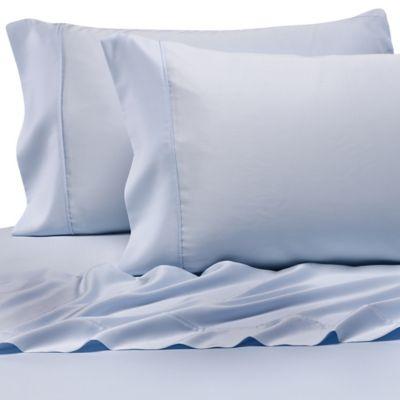 Pure BeechR 100 Modal Sateen Standard Pillowcase Pair In Light Blue