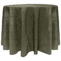 Bombay Diamond-Stitched Pintuck 90-Inch Round Tablecloth in Aspen Mist