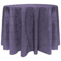 Bombay Diamond-Stitched Pintuck 90-Inch Round Tablecloth in Wisteria