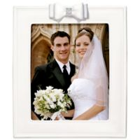 Grasslands Road® 8-Inch x 10-Inch Porcelain Wedding Picture Frame with Resin Bow