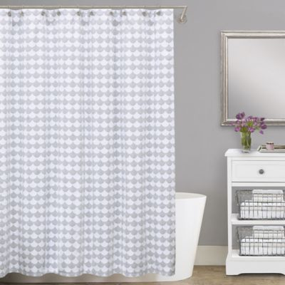 Lamont Home Finley 54 Inch X 78 Cotton Matelasse Stall Shower Curtain