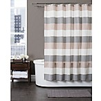 Baltic Linen 72-Inch x 72-Inch Yarn-Dyed Strata Striped Shower Curtain