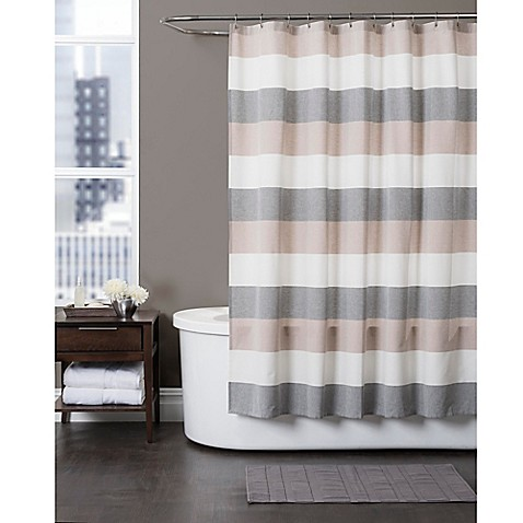 Baltic Linen Yarn Dyed Strata Striped Shower Curtain Bed Bath Beyond