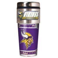 NFL Minnesota Vikings 16 oz. Stainless Steel Travel Tumbler