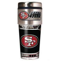 NFL San Francisco 49ers 16 oz. Stainless Steel Travel Tumbler