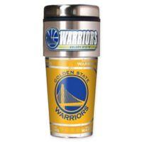NBA Golden State Warriors 16 oz. Metallic Travel Tumbler