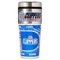 NBA Los Angeles Clippers 16 oz. Metallic Travel Tumbler