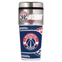 NBA Washington Wizards 16 oz. Metallic Travel Tumbler