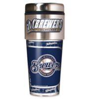 MLB Milwaukee Brewers 16 oz. Metallic Tumbler