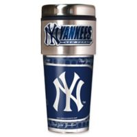 MLB New York Yankees 16 oz. Metallic Tumbler