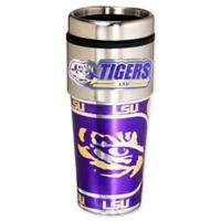 LSU 16 oz. Metallic Tumbler
