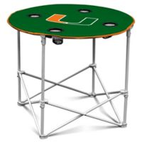 University of Miami Round Collapsible Table