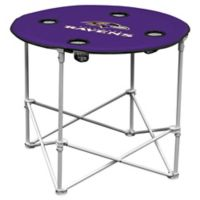 NFL Baltimore Ravens Round Collapsible Table