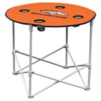 NFL Denver Broncos Round Collapsible Table