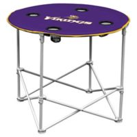 NFL Minnesota Vikings Round Collapsible Table