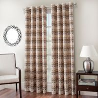 Cadence Chenille Jacquard 84-Inch Window Curtain Panel in Driftwood