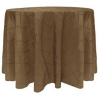 Bombay Diamond-Stitched Pintuck 120-Inch Round Tablecloth in Burnt Gold