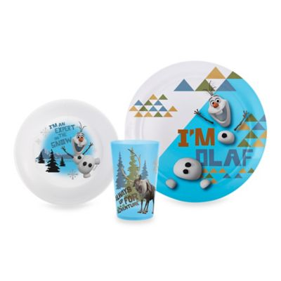 Designs® Disney® Frozen Olaf 3-Piece Dinnerware Set  sc 1 st  Bed Bath u0026 Beyond : disney dinnerware set - pezcame.com