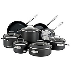 allclad b1 nonstick hard anodized 13piece cookware set and open stock