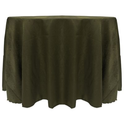 Charming Kenya Contemporary African Inspired Damask Textured 108 Inch Round  Tablecloth In Jungle Green