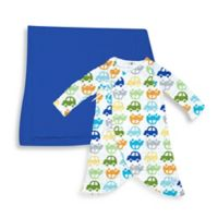 i Play.® Brights Organic Muslin 2-Piece Gown and Blanket Gift Set in Royal Blue/Car