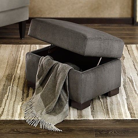 Regency Heights 174 Palmer Storage Ottoman In Gunmetal Bed