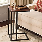 Black and Tan Hamilton Narrow Wood Top C Table