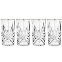 Godinger Platinum 10 oz. Highball Glasses (Set of 4)