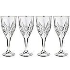 Godinger Platinum 9 oz. Goblet Glasses (Set of 4)
