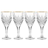 Godinger Gold 9 oz. Goblet Glasses (Set of 4)
